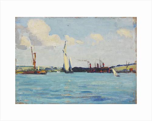 A sailing barge by John Everett