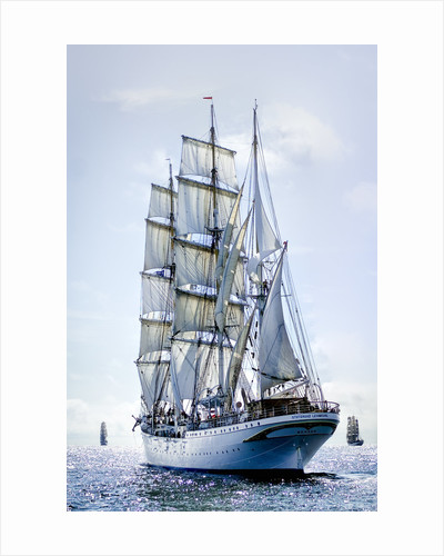 Norwegian three-masted barque 'Statsraad Lehmkuhl' during Turku Tall Ships Race 2009 by Richard Sibley