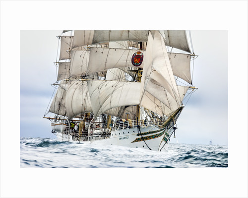 Norwegian full-rigged ship 'Sorlandet', Lerwick to Stavanger Tall Ships Race 2011 by Richard Sibley