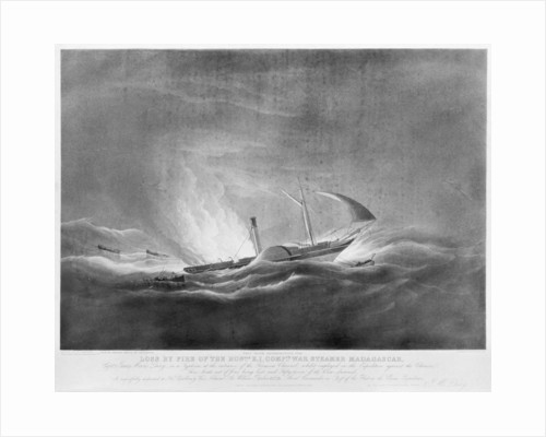 Loss by fire of the Honourable E. I. Company's war steamer 'Madagasgar'... in a typhoon, at the entrance of the Formosa Channel by William John Huggins