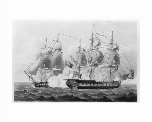 Capture of the 'Liguria', 7 August 1798 by Thomas Whitcombe