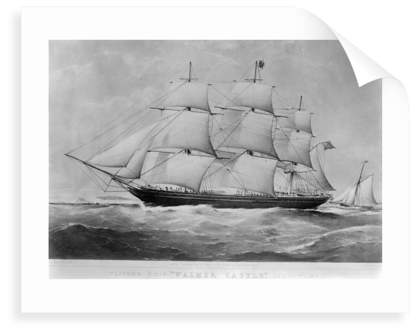 'Walmer Castle' (1855) under way by unknown