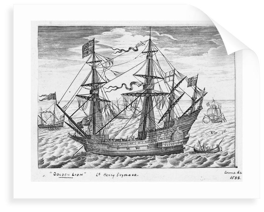 40-gun ship 'Lion' (1557, also known as 'Golden Lion') by Claes Jansz Visscher
