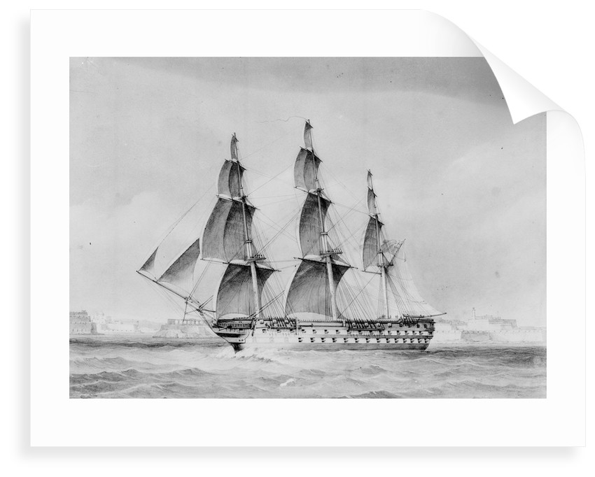 HMS 'Vengeance' (1855) by unknown