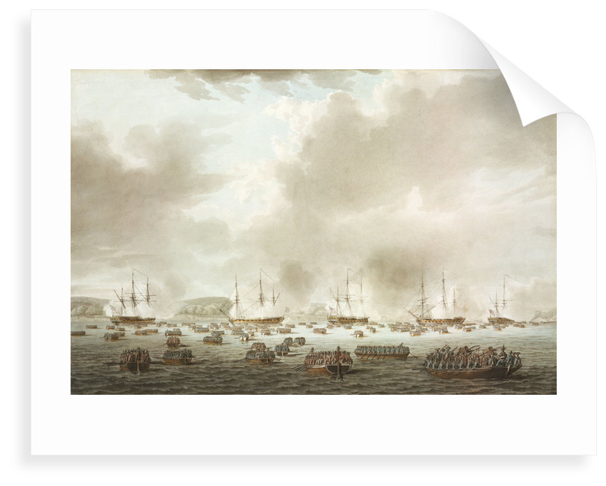 The British landing at Kip's Bay, New York Island, 15 September 1776 by Robert Cleveley