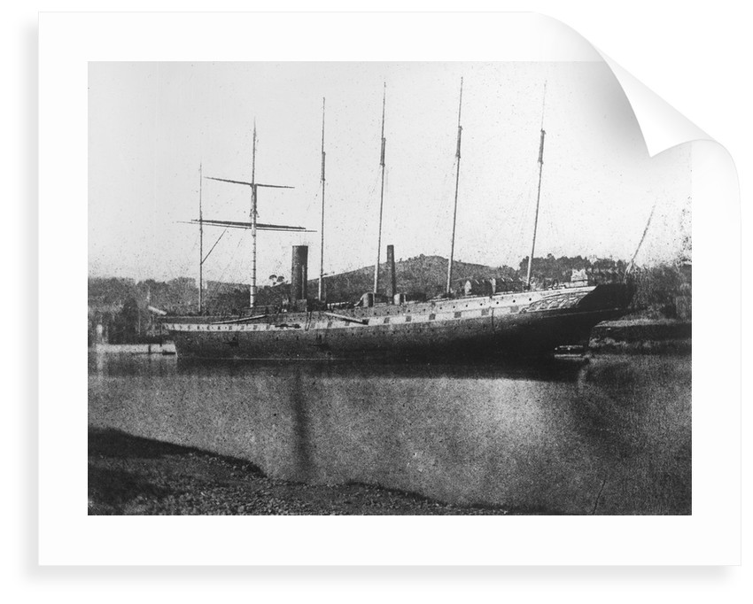 SS 'Great Britain' (Br, 1843) at Bristol, shortly after her launching in 1843 by W.H. Fox Talbot