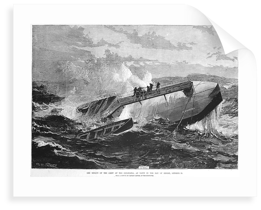 The rescue of the crew of the 'Cleopatra', at dawn in the Bay of Biscay by unknown