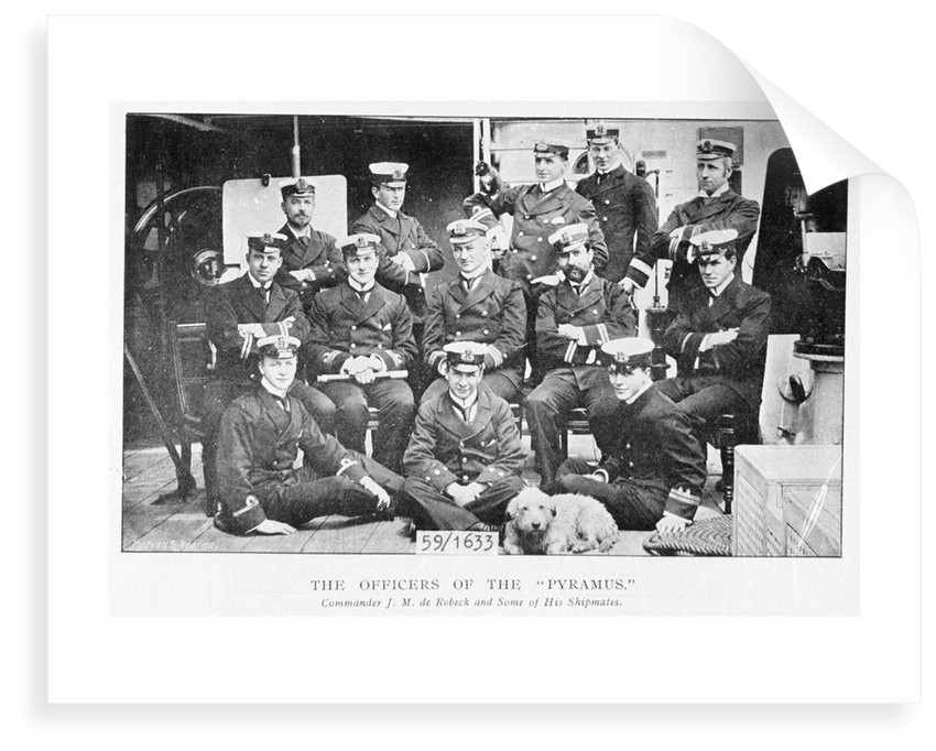 Officers of 3rd class protected cruiser HMS 'Pyramus' (1897) by unknown