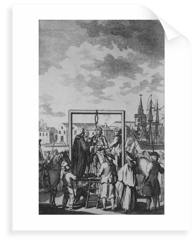 Public hanging of a pirate by unknown