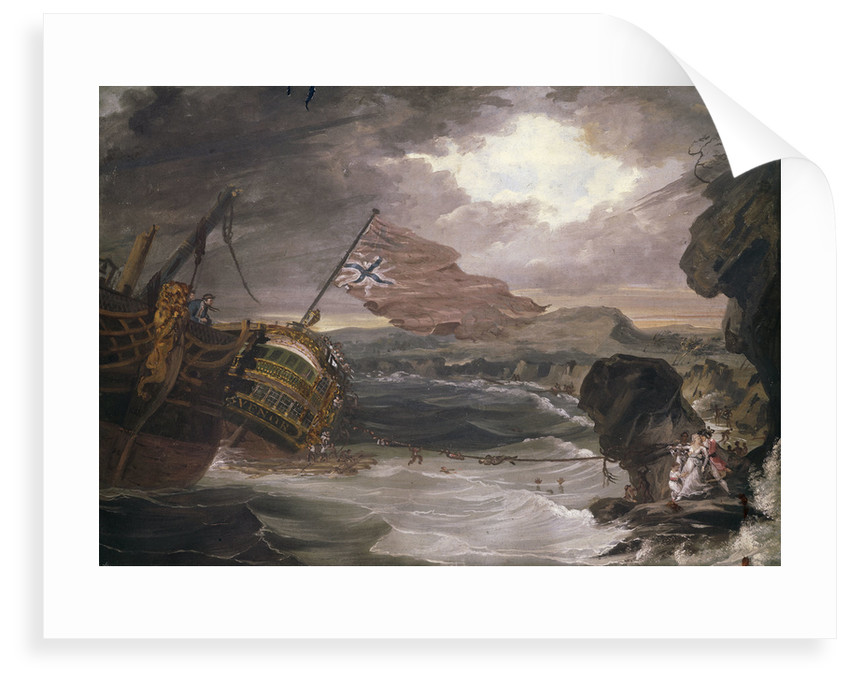 The wreck of the 'Grosvenor', 1782 by G. Carter
