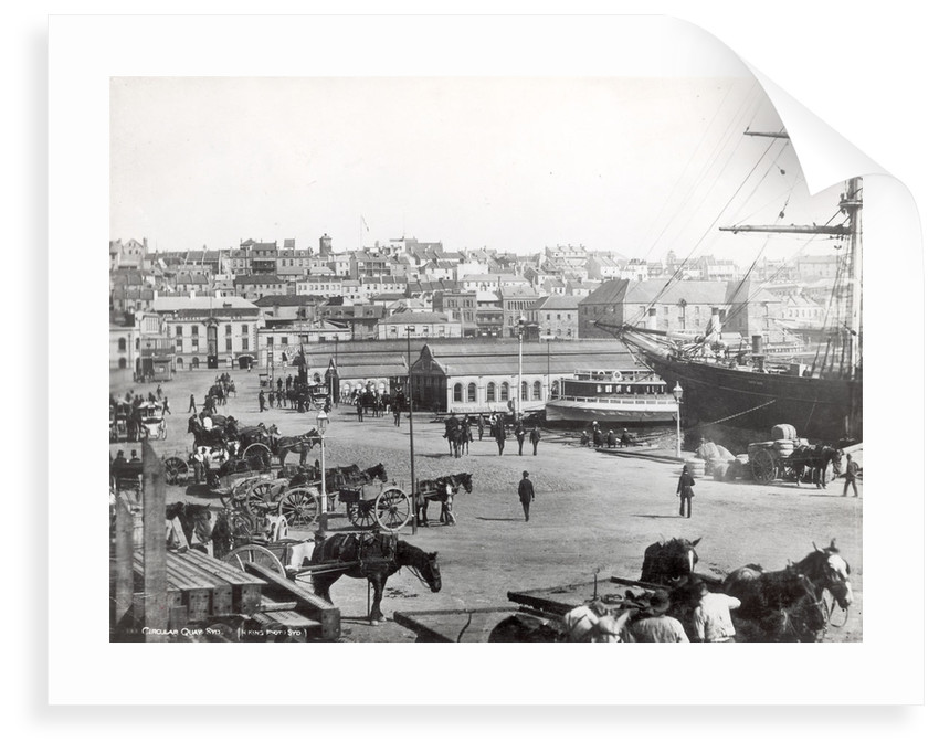 Circular Quay, Sydney, with the 'Cutty Sark' loading wool by unknown