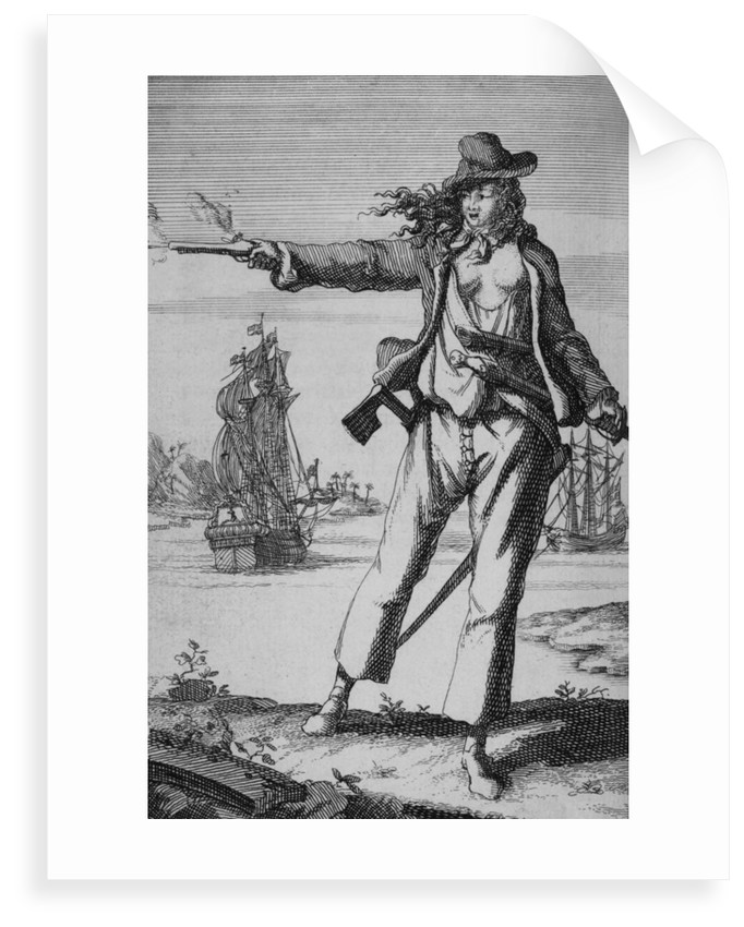 Anne Bonny, female pirate by unknown