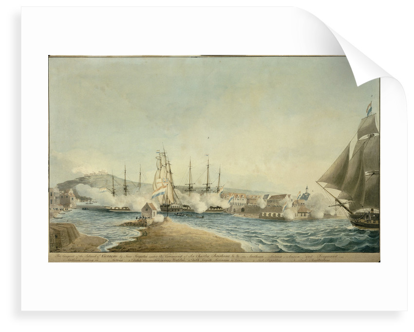 The Conquest of the Island of Curacoa by Four Frigates under the Command of Sir Charles Brisbane by Charles Brisbane