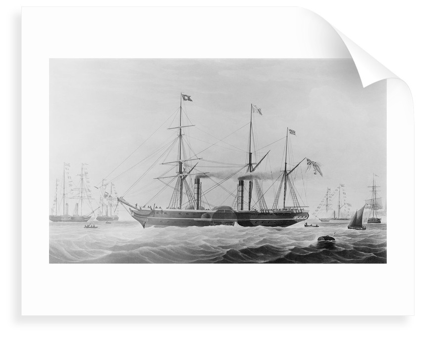 The Peninsular and Oriental Steam Navigation Company ship 'Hindostan' by Edward Duncan