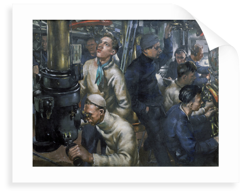 Stand by tubes. The control room of HMS 'Stubborn' by William Dennis Dring