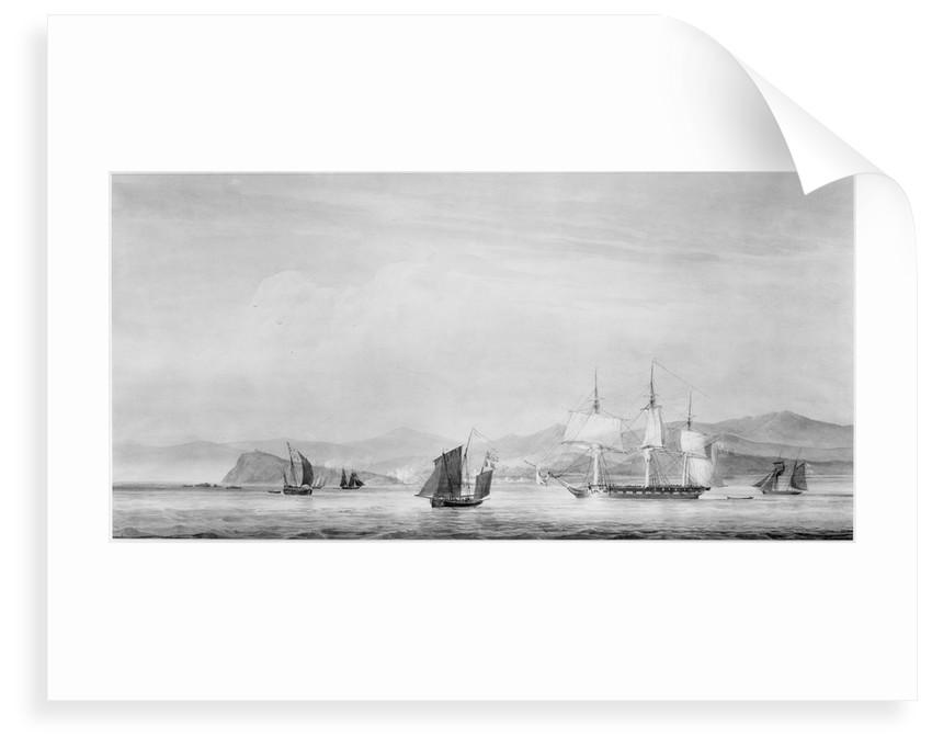 32-gun HMS 'Minerva' (1805) at Finisterre, 1806 by unknown
