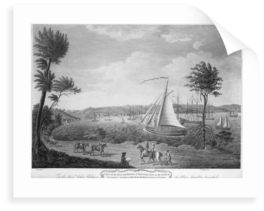 A view of the town and harbour of Montego Bay, in the parish of St James, Jamaica, taken from the road leading to St Anns by unknown