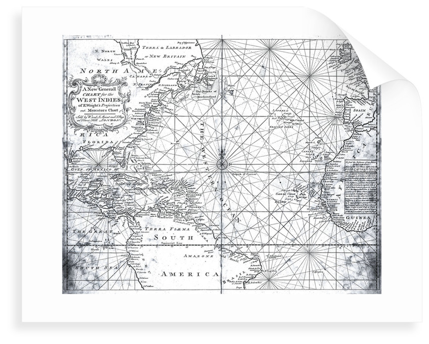 Map of the North Atlantic by Mount and Page by Mount
