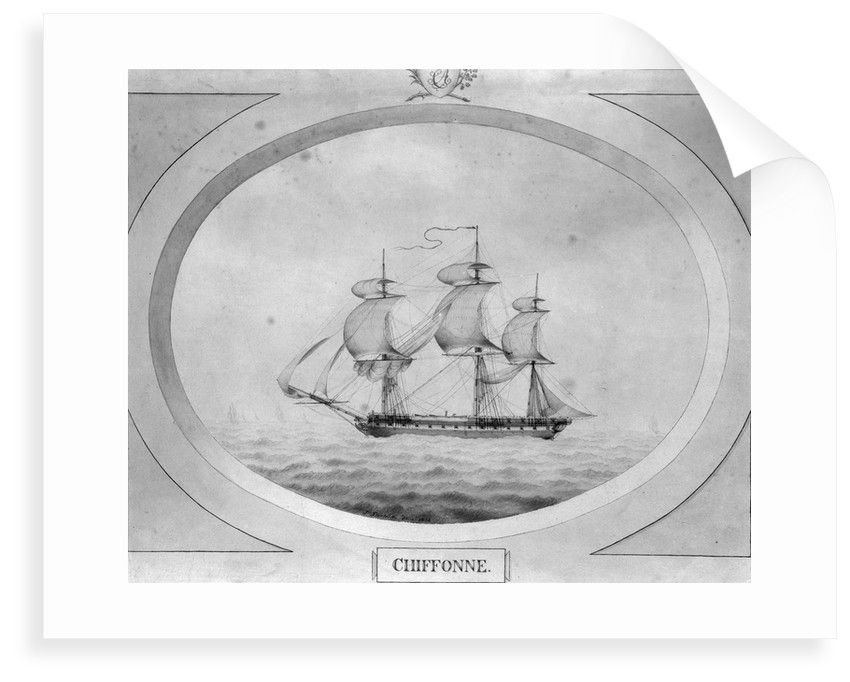 'Chiffonne', the ship Charles Adam took from the French at the Seychelles Islands by John Shertcliffe