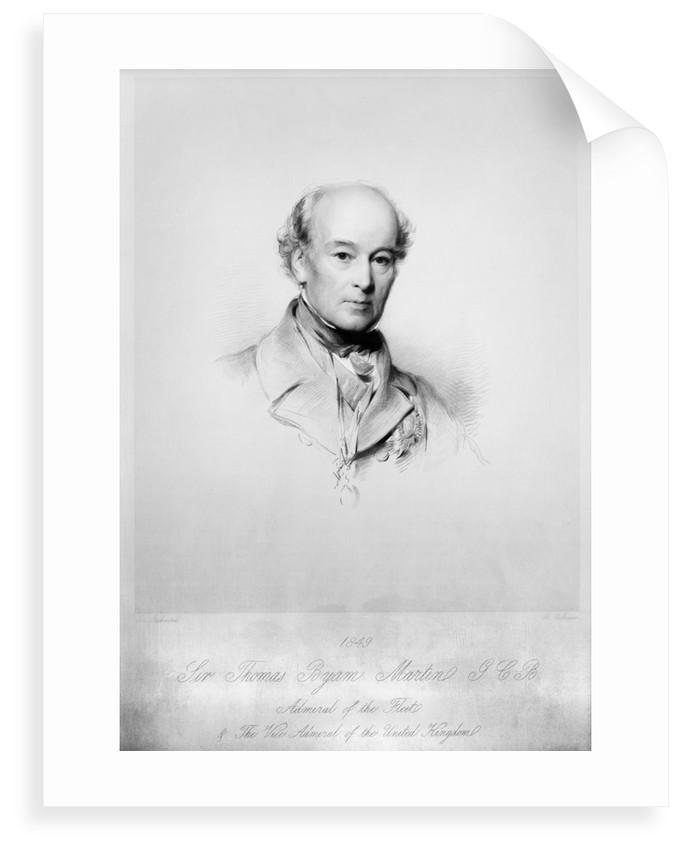 Sir Thomas Byam Martin, G.C.B. Admiral of the Fleet, 1849 by George Richmond