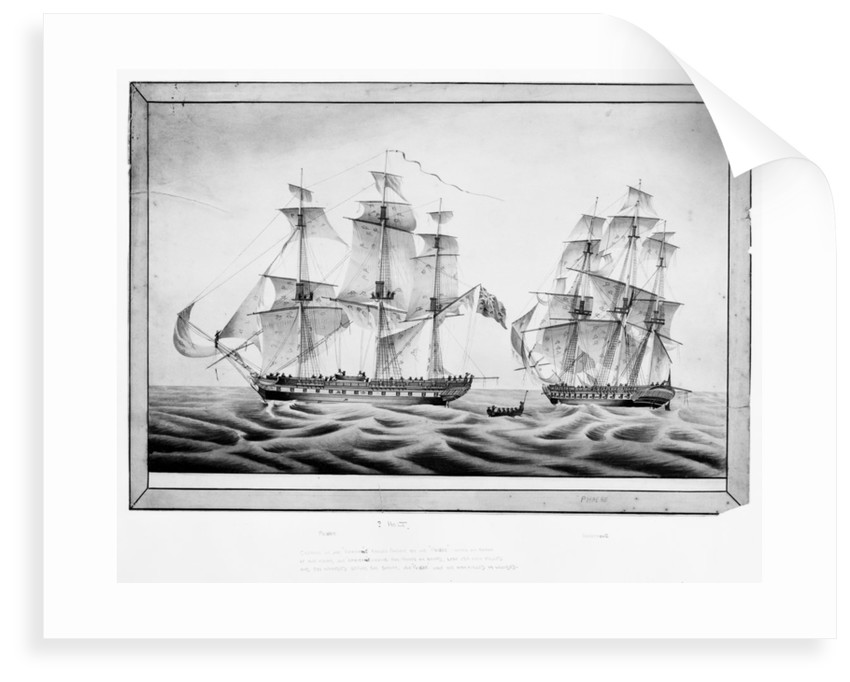 Capture of the French frigate 'Africaine' by the 'Phoebe', 1 November 1801 by Holt