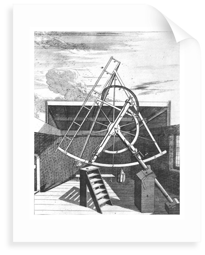 Flamsteed's 7-foot equatorial telescope by Edward Sylvester