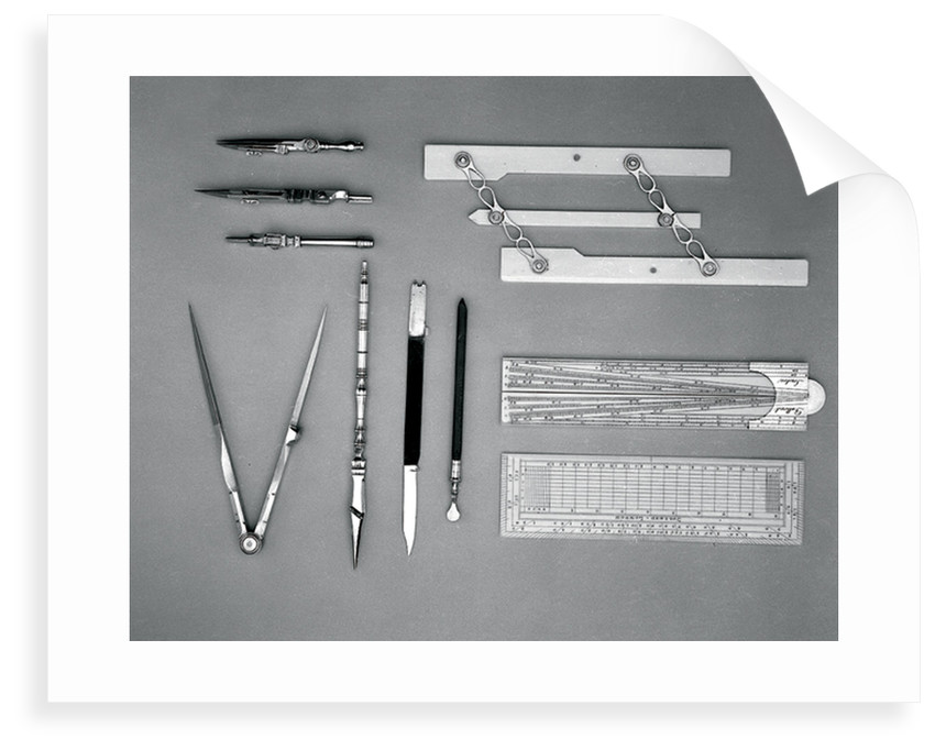 Drawing instrument set by Dollond