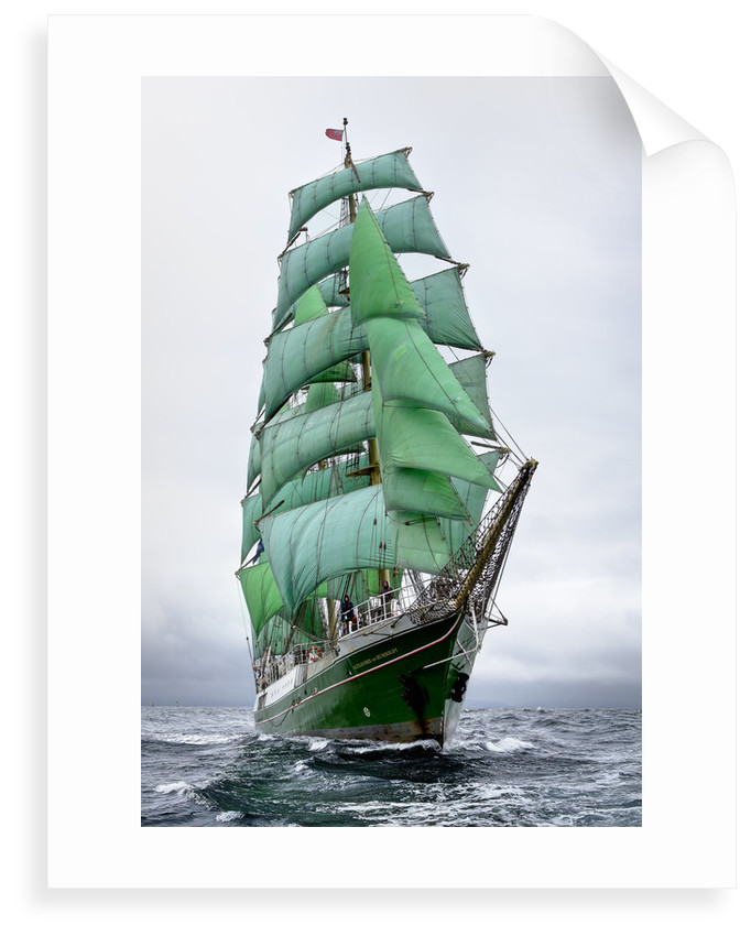 Barque 'Alexander von Humboldt' during Lerwick to Stavanger Tall Ships Race 2011 by Richard Sibley