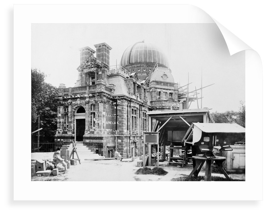 The South building under construction at the Royal Observatory, Greenwich by unknown