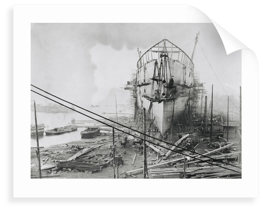 'Great Eastern' under construction at Blackwall, 1858 by Robert Howlett