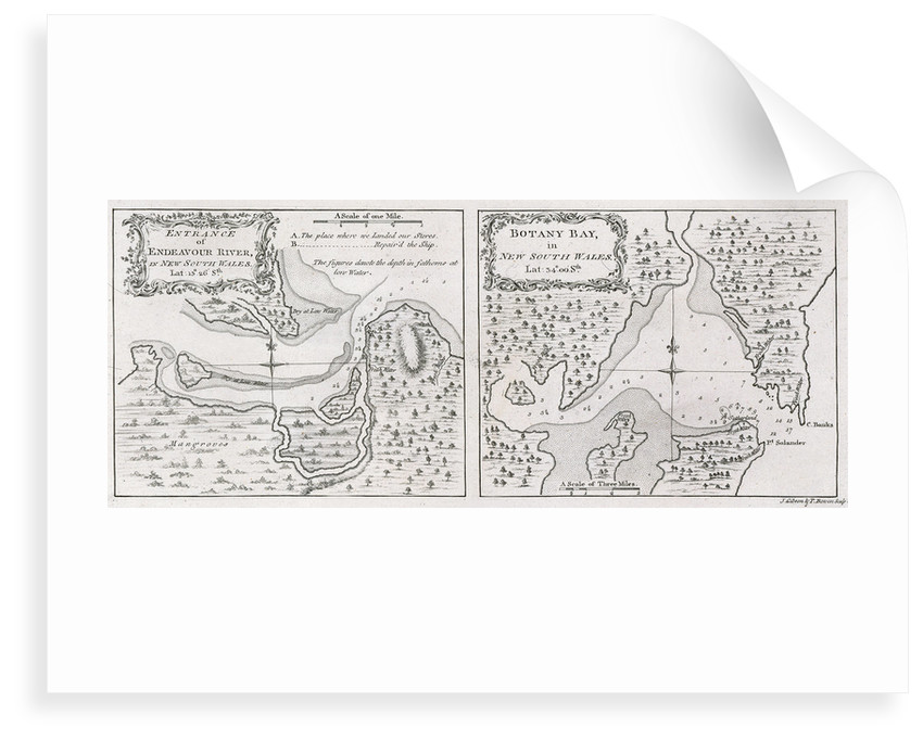 Captain James Cook's charts of Botany Bay and Endeavour River by unknown