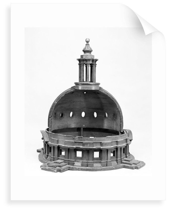 Model for the domes of Greenwich Hospital by James Smallwell