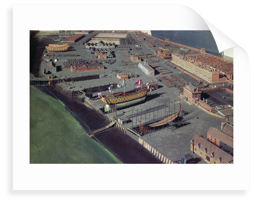Topographic model, Royal Dockyard at Chatham by William Phillips