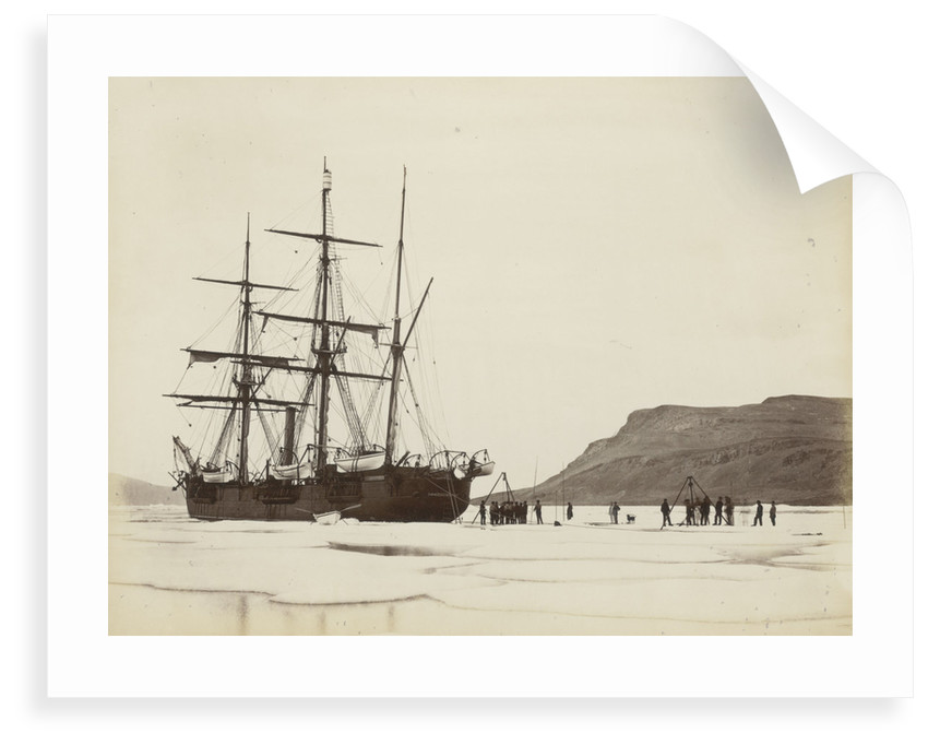 Alert' cutting into dock, Dobbin Bay, 13 August 1875 by unknown