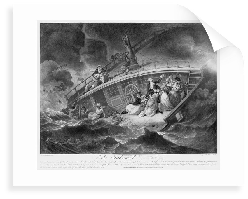The wreck of 'Halsewell', an East Indiaman, off Seacombe in the Isle of Purbeck on 6 January 1786 by Jukes Francis