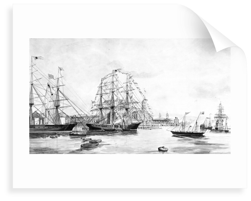 Visit of her Majesty the Queen to the 'James Baines' and the 'Champion of the Seas' by A. Maclure