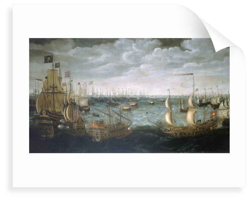 Launch of fireships against the Spanish Armada, 7 August 1588 by Aert Anthonisz