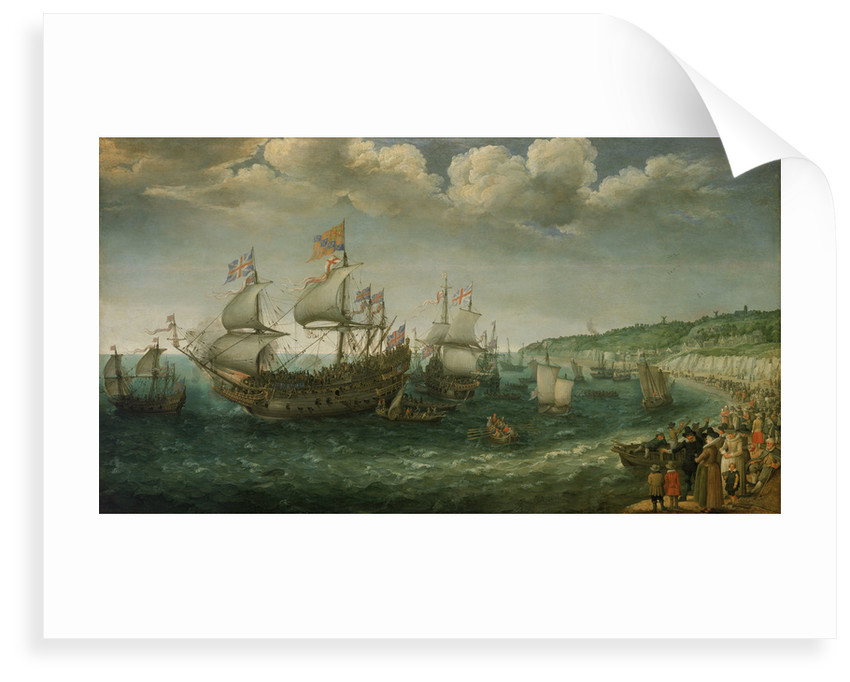 Embarkation of the Elector Palatine in the 'Prince Royal' at Dover, 25 April 1613 by Adam Willaerts