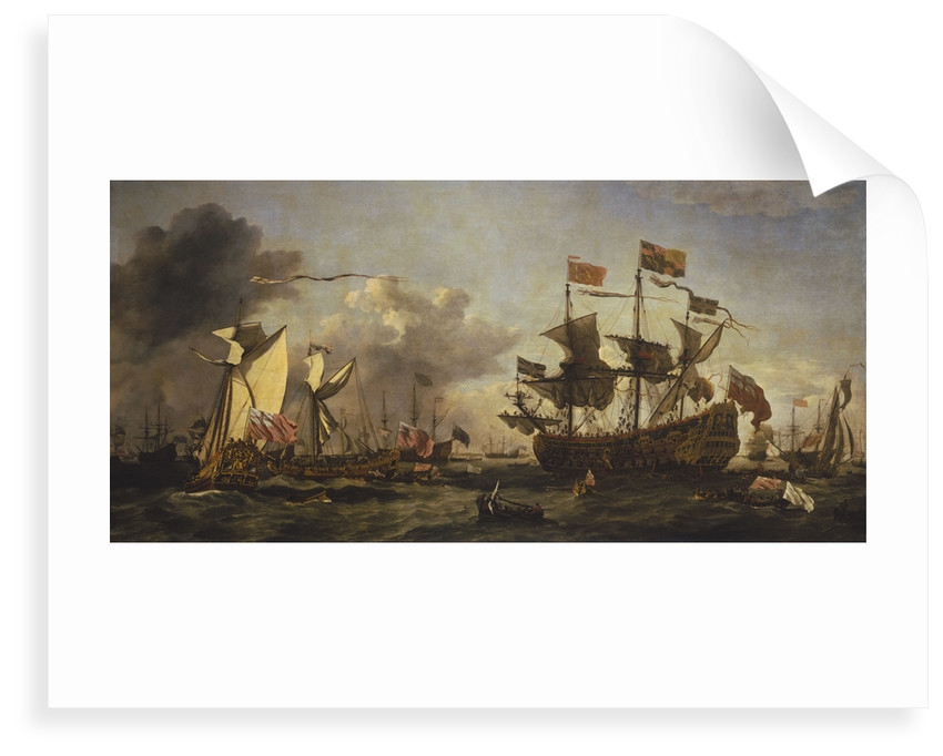 Royal visit to the fleet in the Thames Estuary, 6 June 1672 by Willem Van de Velde the Younger
