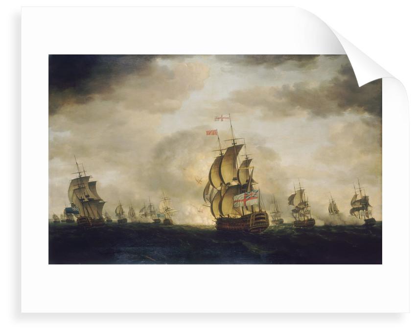 The Moonlight Battle: the Battle off Cape St Vincent, 16 January 1780 by Francis Holman