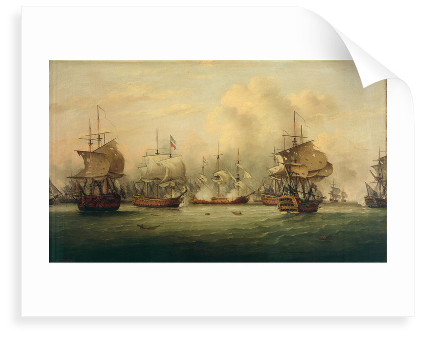 The Battle of the Dogger Bank, 5 August 1781 by Thomas Luny