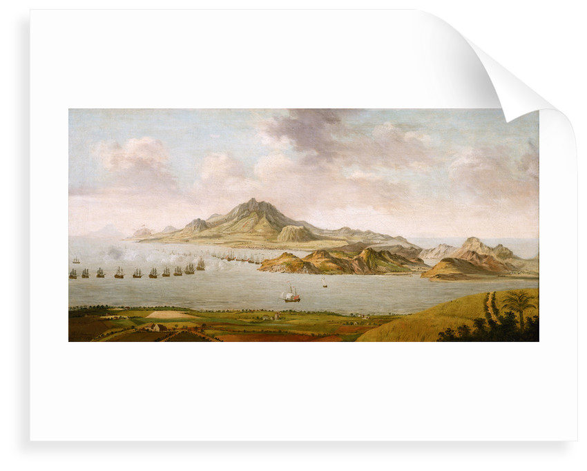 Repulse of the French in Frigate Bay, St Kitts, 26 January 1782 by Thomas Maynard
