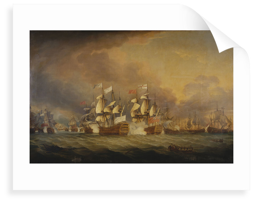 The Battle of the Saints, 12 April 1782 by Thomas Mitchell