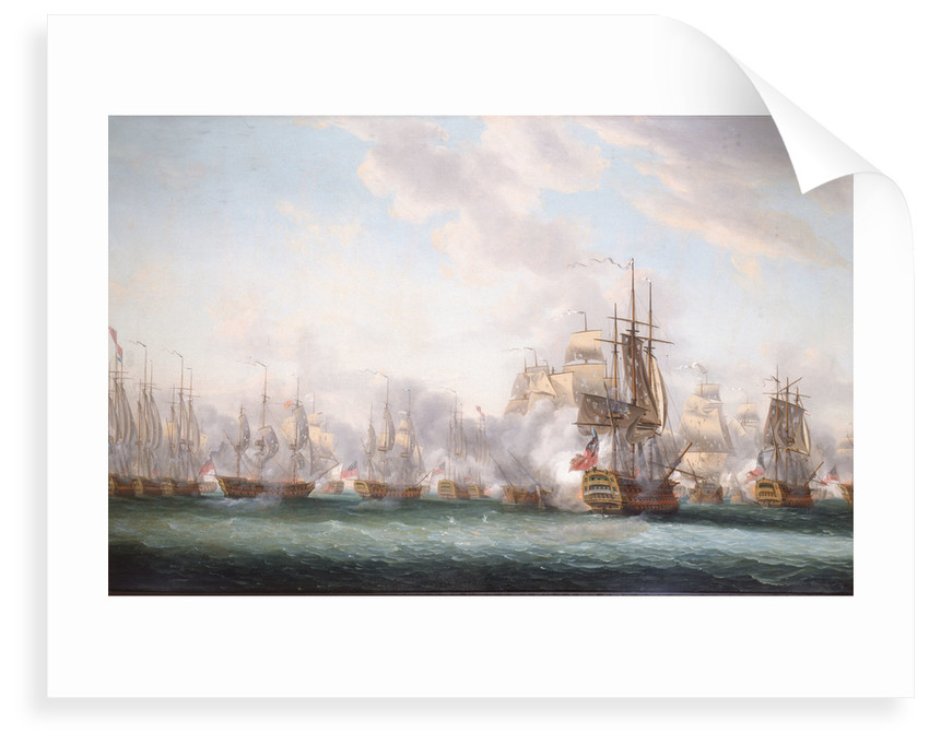 The Battle of the Saints, 12 April 1782 by Nicholas Pocock