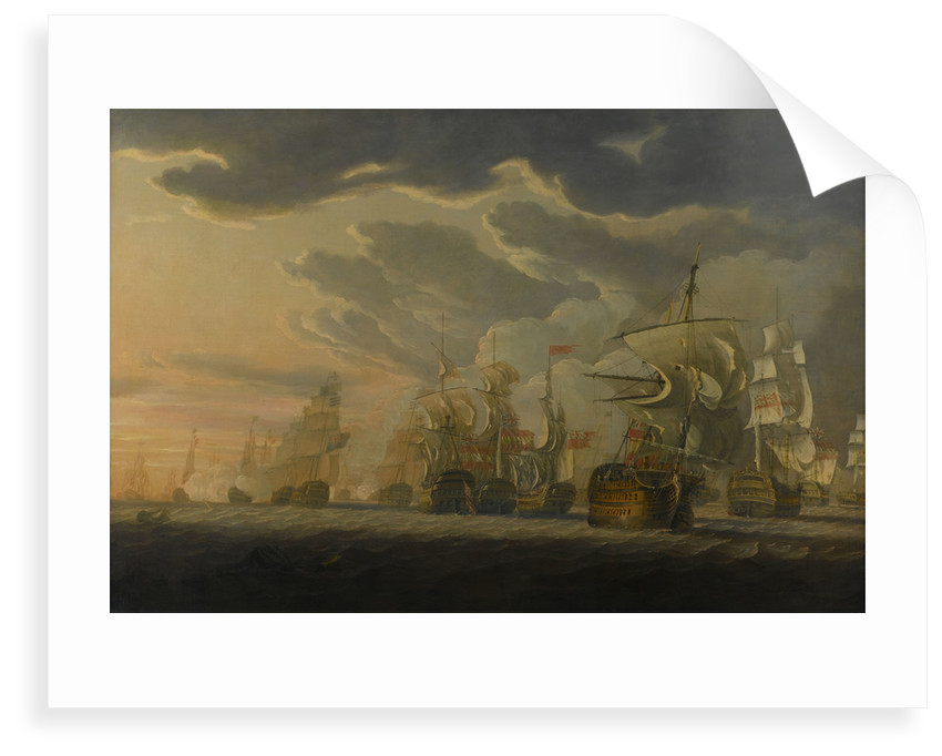 The Battle of Cape St Vincent, 14 February 1797 by Robert Cleveley