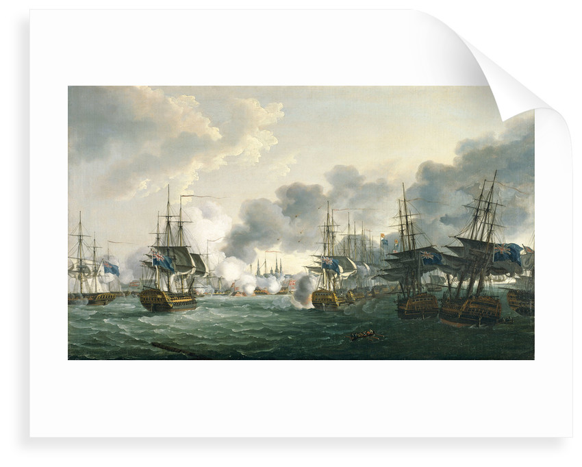 The Battle of Copenhagen, 2 April 1801 by John Thomas Serres
