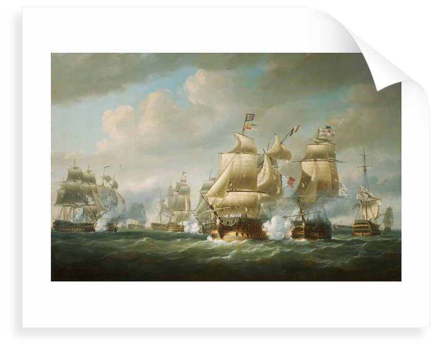 Duckworth's action off San Domingo, 6 February 1806 by Nicholas Pocock