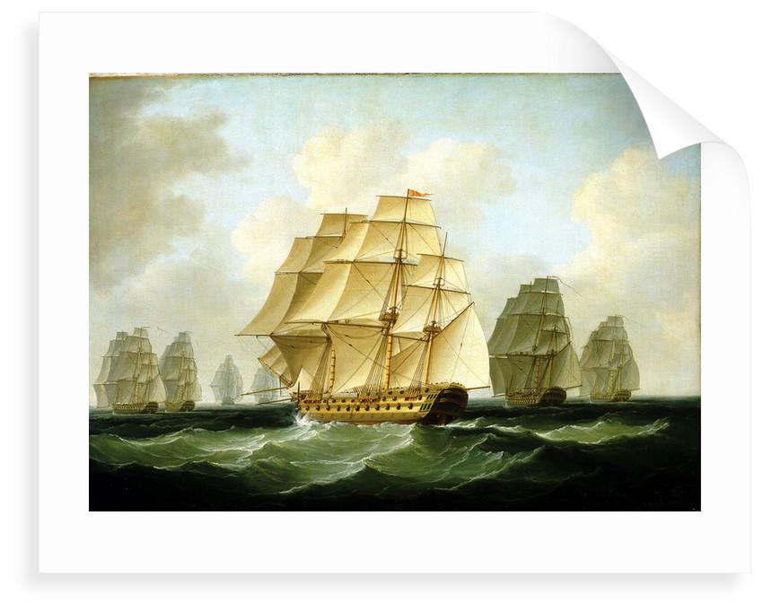 Strachan's action after Trafalgar, 4 November 1805 by Francis Sartorius