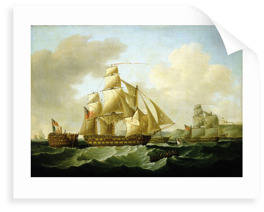 Strachan's action off Rochefort, 25 September 1806: bringing Home the Prizes by Francis Sartorius