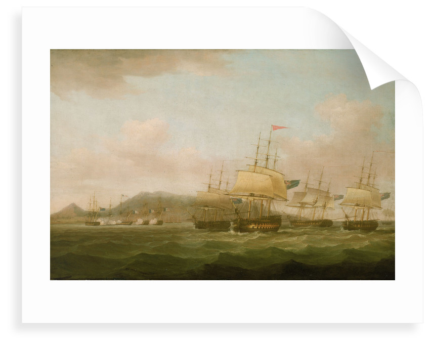 The capture of Saint Paul near the Isle de Bourbon, 21 September 1809 by Thomas Whitcombe